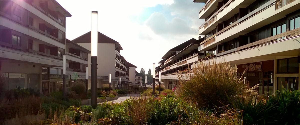 Vue du quartier - Appartement proche Basilique Saint Rémi à Reims