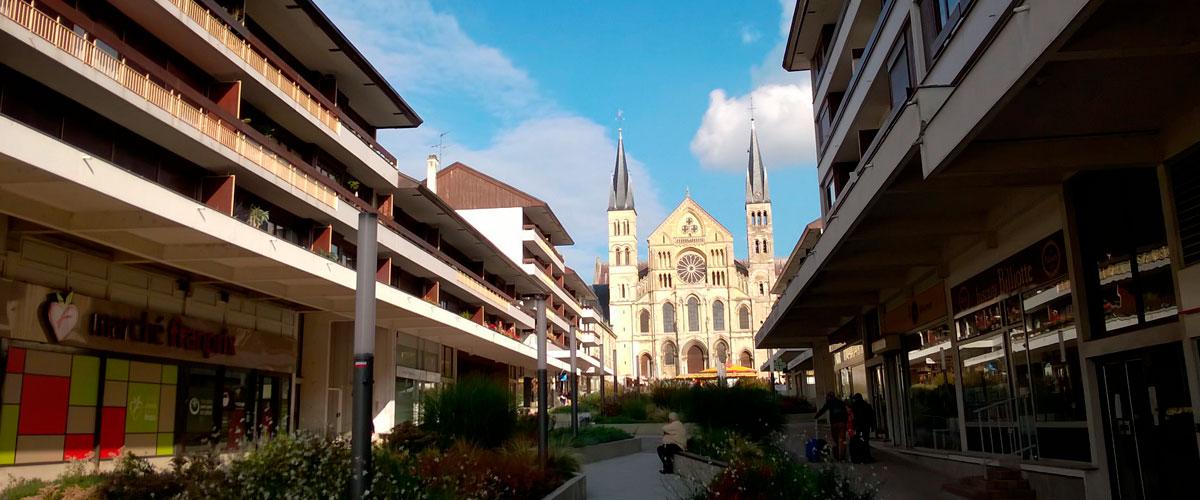 Vue sur la Basilique Saint Rémi au pied de l'immeuble - Appartement proche Basilique Saint Rémi à Reims