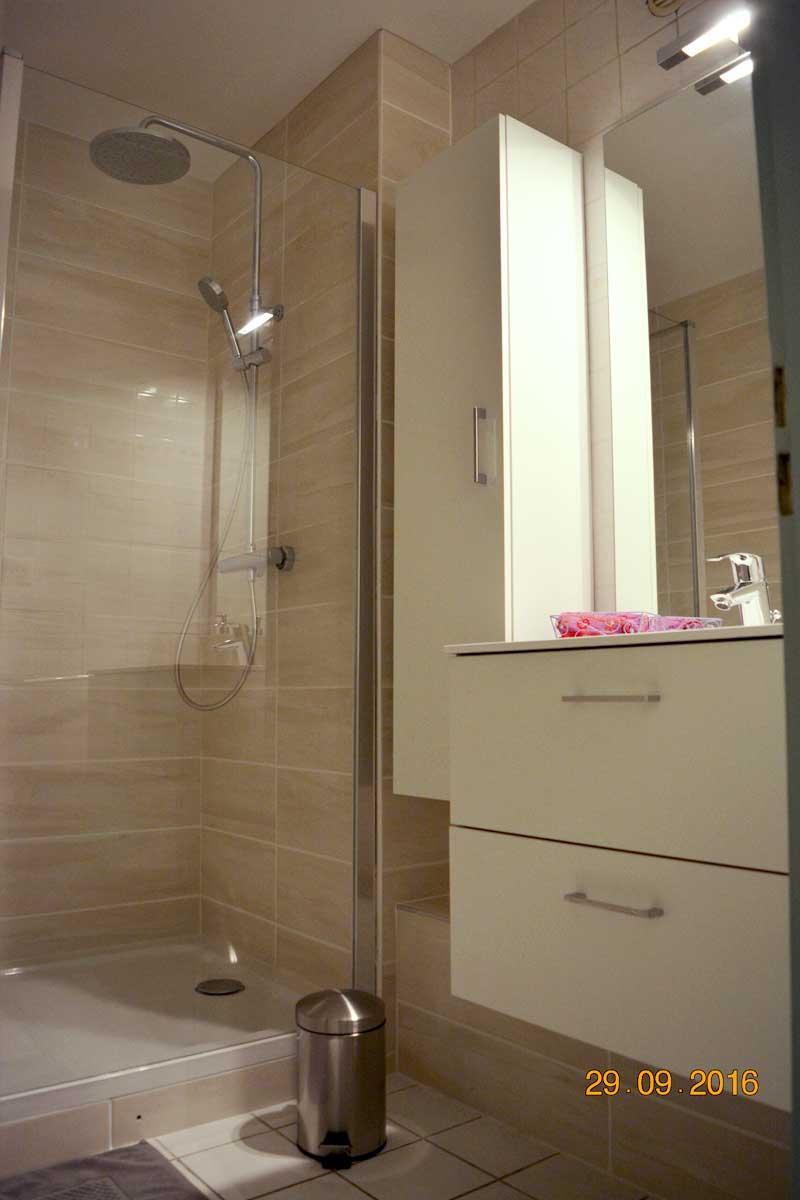 Salle de douche - Appartement proche Basilique Saint Rémi à Reims